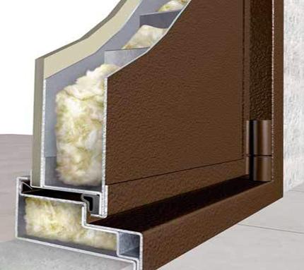 стальная дверь с минеральной ватой